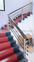 aluminum tempered glass handrail for stairs
