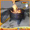 Outdoor metal wood burning fire pit
