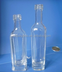Personal Care Industrial Use clear glass bottle