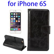 Mobile Accessories Wholesale Deluxe Mobile Flip Leather Phone Case for iPhone 6S