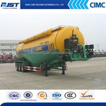 CIMC 60m3 3 axle bulk cement tank semi trailer