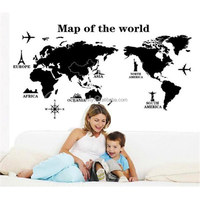 Overvalue! Removable Vinyl PVC World Map Home Decoration Art Decal Mural Map of The World Wall Sticker Office Decor