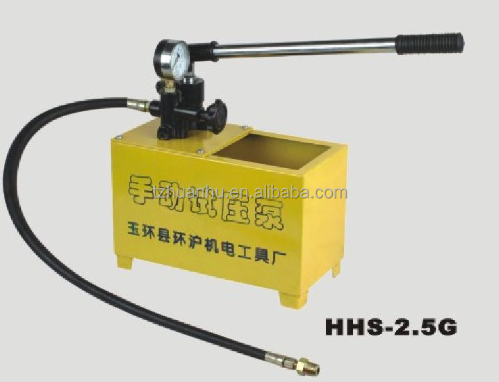 Manual pressure testing pumps hydraulic press hhs Hydraulic motor testing