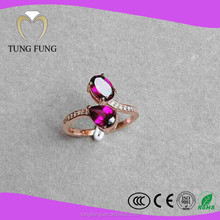 Factory Price China Jewelry Sri Lanka Garnet 925 Sterling Silver Ring