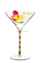 High quality Mixing Goblet Cocktail Glass / Customable printing martini glass