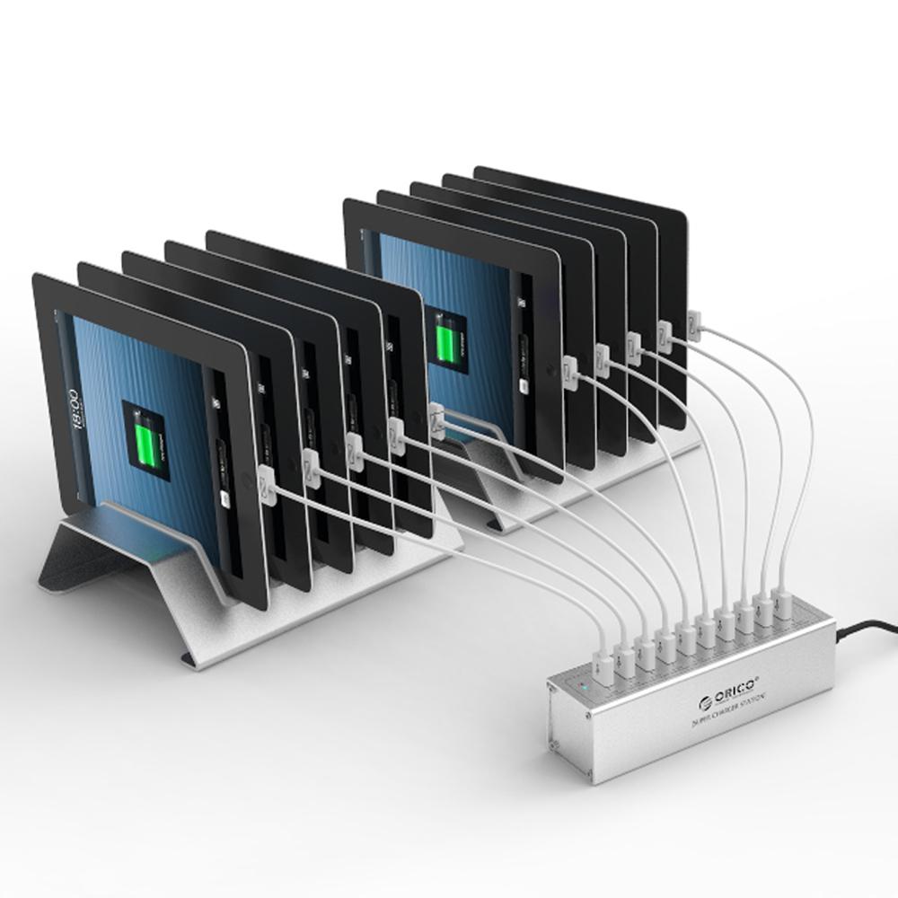 Orico 12a 60 w 10 port usb chargeur pour apple ipad multi port chargeur station dock charge pour - Multi chargeur usb ...
