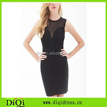 New wholesale products bandage Teens bodycon dress, mesh dress for female