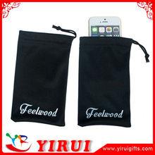 YD019 silkscreen printing customized logos microfiber mobile phone pouch