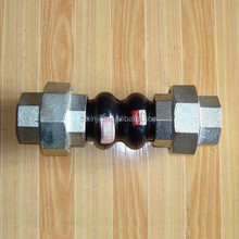 galvanized union type expansion joint rubber bellows