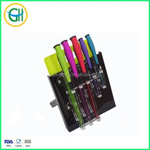 high quality 5pcs knife set kitchen with PP cutting board, colorful knife set kitchen