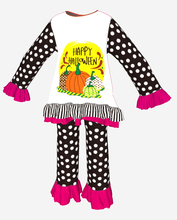 persnickety remake halloween pumpkin clothes set for 10--12 yrs girls