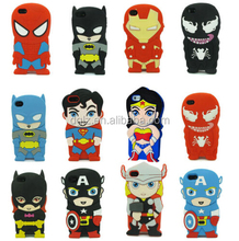 supplier lovely superhero silicone case cover for ipad mini with PET matirial
