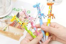 2014 Wholesale promotional new design cute giraffe shape ballpoint pen