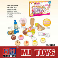 plastic food toys kitchen toy ice cream play set