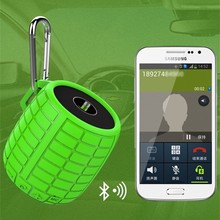 Portable Bluetooth Speaker with Rechargeable 500mah Battery and Enhanced Bass Resonator (Green)