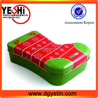 Hot sale promotional christmas gift sock tin boxes wholesale