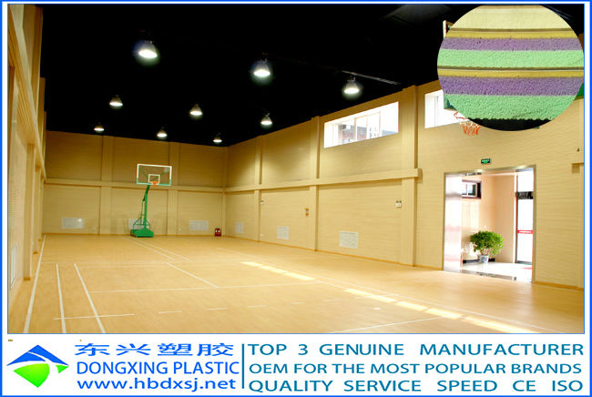 dongxing 6.0mm sprung PVC basketball floor