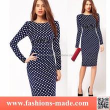 Women Multi-color Lovely Dots Dress Suit