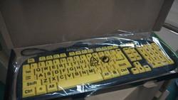 Low vision Big Letter Font Words Multimedia Keyboard