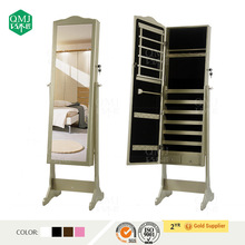 2014 China New Design Wooden Standing Mirror Jewelry Armoire