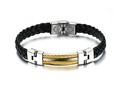 Top level hotsell laser cut new braided leather bracelets