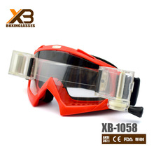 2015Stylish rolling off racing motorcross goggles