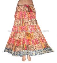 diseño venta caliente damas falda larga