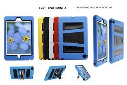 heavy duty defender case for new ipad mini 2015, for ipad mini 4 armor kickstand case