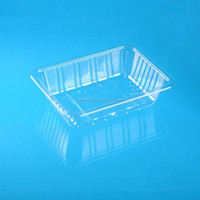 transparent disposable take away plastic packaging serving tray