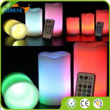 Romantic Flameless paraffin Candle wax LED Light with 18keys Remote Color Changing Wedding Festival