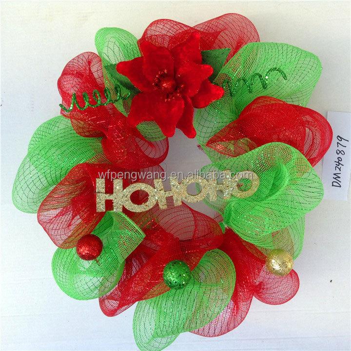 Deco malla poli para las decoraciones de navidad flores y ...