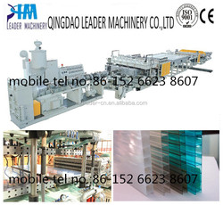 colored multiwall polycarbonate hollow sheet extrusion machine