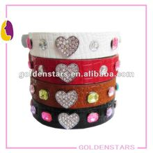 bling bling Leather dog collars and leashes with crystal .2012 TOP HOT!