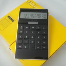 Big acrylic key desktop calculator with solar power function