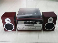 3 SPEED TURNTABLE AUDIO PLAYER WITH CD RECORD & CASSETTE & RADIO PLAYER FUNCTION
