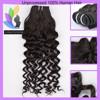 Raw Unprocessed Myanmar Human Hair Weaving Deep Wave Hair Weaving