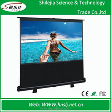 """Pull up Floor Stand 100"""" 16:9 Projection Screen Portable Floor Standing Projector Screen"""