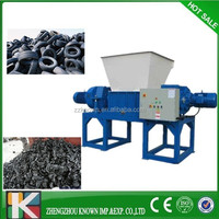 Car Tire Shredder Crusher/ Used Rubber Tyre Crushing and Grinding Machine/Tire Recycling machine For Sale