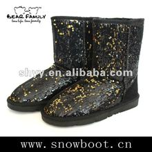 Sequins fashion boot new fabric winter boots 2012