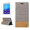 OEM service flip stand leather phone case for Sony xperia c4 cover
