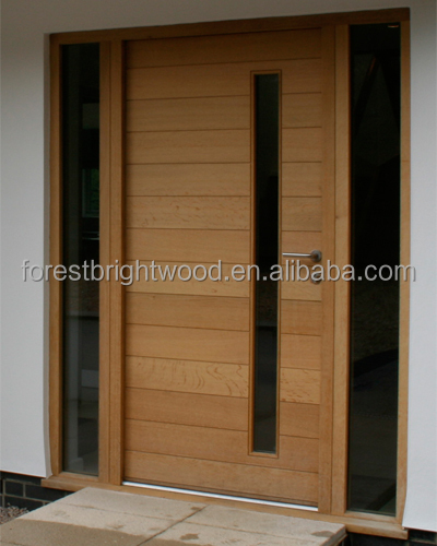 Modern design front wooden doors buy front wooden doors for Modern front door designs
