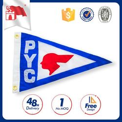 Custom Printing Wholesale Price Flying Promotional Soccer Pennants