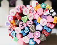 CS-001 Yiwu Liancai Ceramic Wholesale Polymer Clay Fimo Fashion Cartoon 3D Nail Art World Sticker