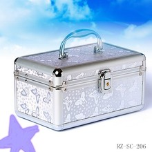 Aluminum jewelry display beauty box make up cosmetic cases