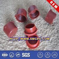 Custom made colored plastic round threaded tube insert