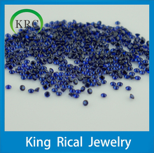 wholesale shining bule round brilliant cut 114# spinel, rhinestone