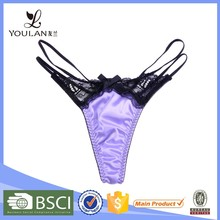 New Products Elegant Young Lady Lace and Satin Girls in Thongs