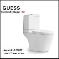 New bathroom design ceramic toilet bowl/two piece washdown floor mounted toilet K-B20007
