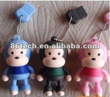 wholesale china usb 2.0 driver cartoon monkey animal pen drive lovely monkey usb memory