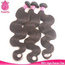 raw indian temple hair natural black body wave hair weave wholesale